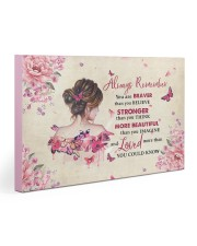 Breast Cancer Always Remember You Are Braver 30x20 Gallery Wrapped Canvas Prints thumbnail