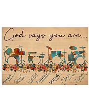 Drummer God Says You Are Unique 17x11 Poster front