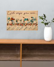 Drummer God Says You Are Unique 17x11 Poster poster-landscape-17x11-lifestyle-24