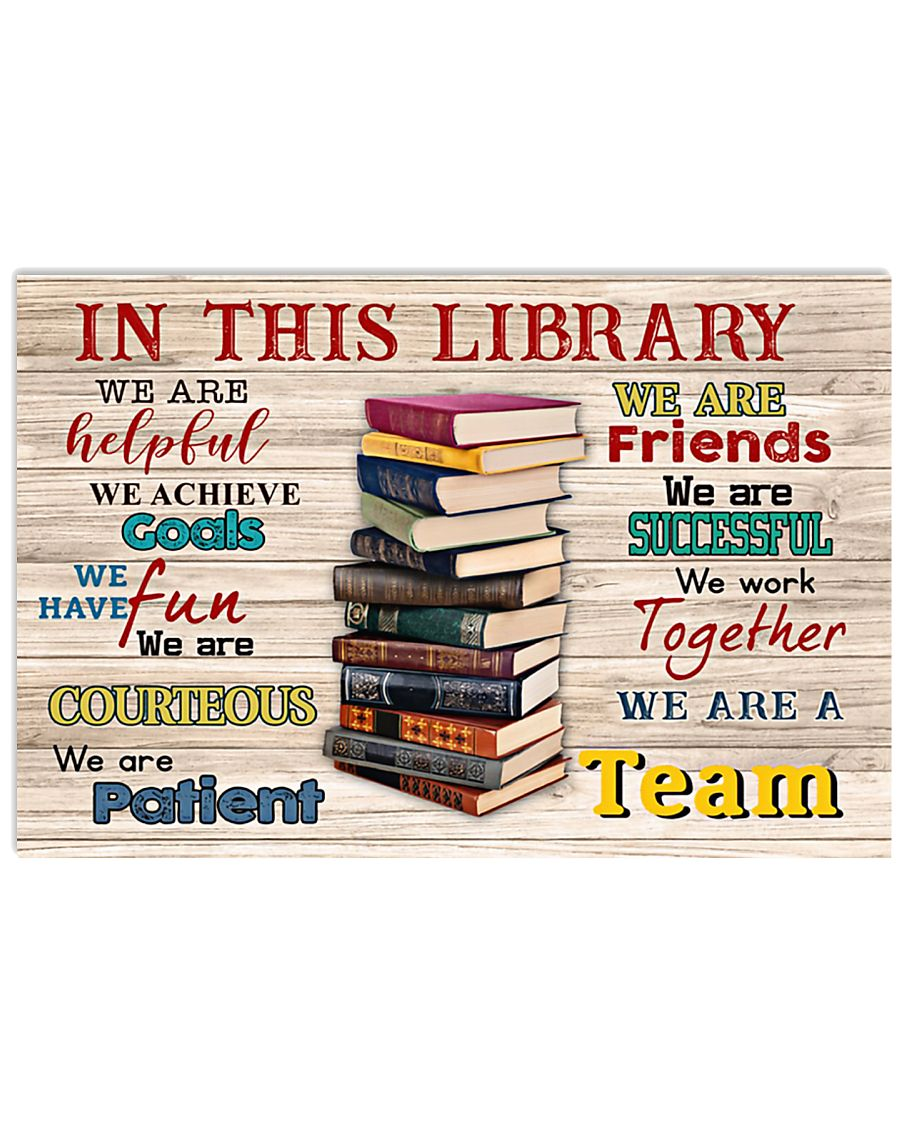 Librarian We Are A Team 17x11 Poster