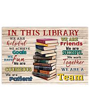 Librarian We Are A Team 17x11 Poster front