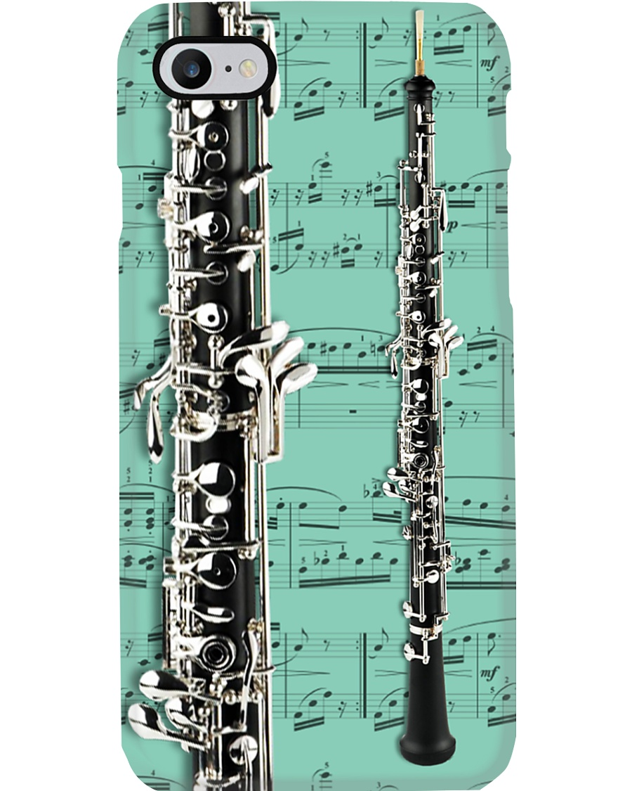 Oboe with music sheet Phone Case
