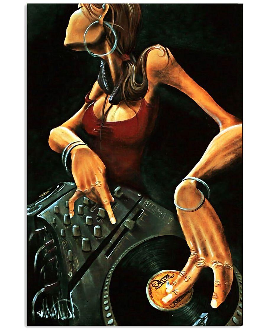 DJ Girl Art 11x17 Poster