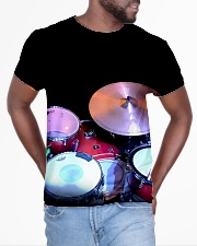 Drummer Therapy  All-over T-Shirt aos-all-over-T-shirt-lifestyle-front-04