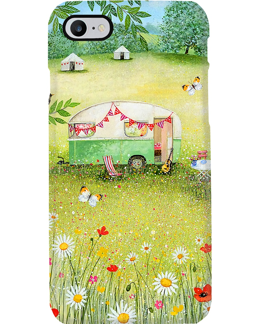 Camping Paradise With Daisy And Butterfly Phone Case