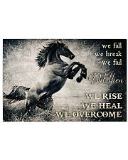 Horse Girls We Overcome  17x11 Poster front