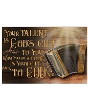 Accordion Your Talent Is God's Gift Poster 17x11 Poster front