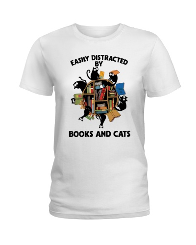 Librarian Easily Distracted By Books And Cats