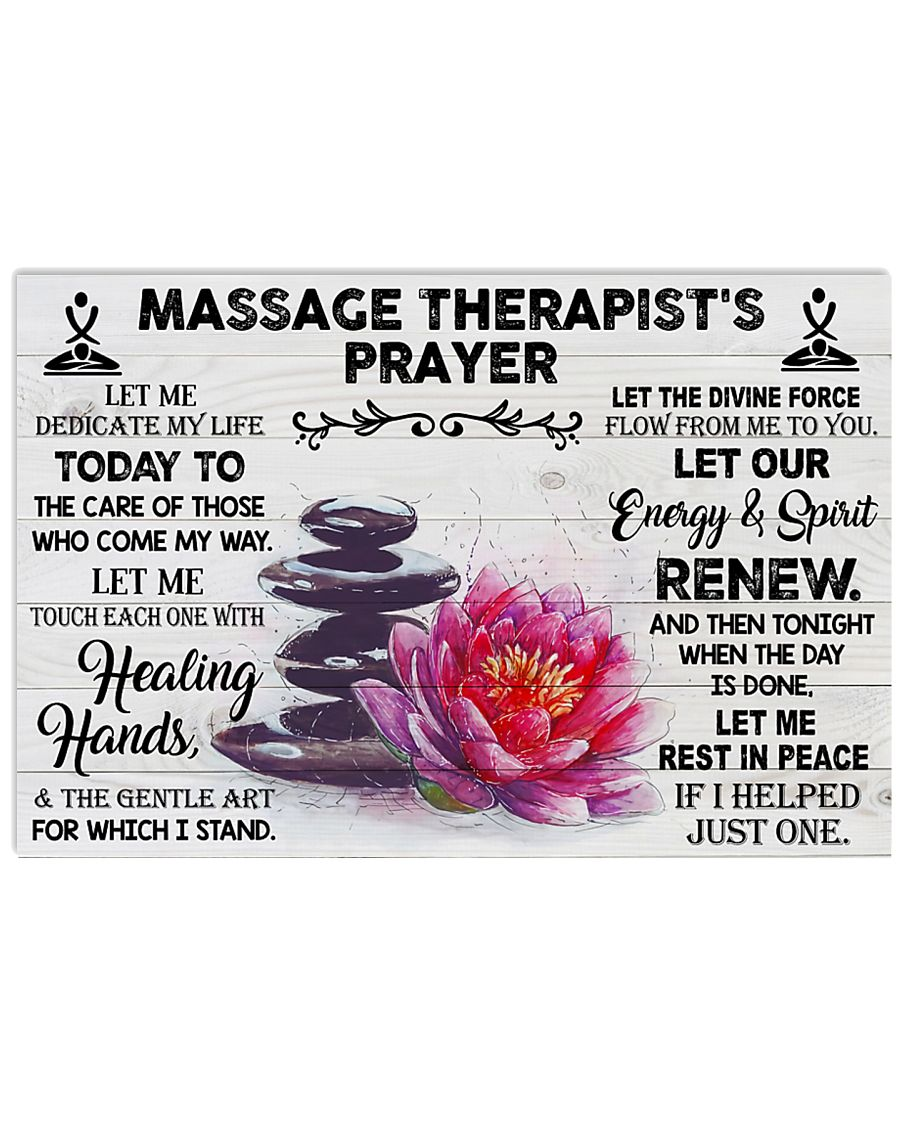 Massage Therapist Let me dedicate my life Poster 17x11 Poster