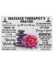 Massage Therapist Let me dedicate my life Poster 17x11 Poster front