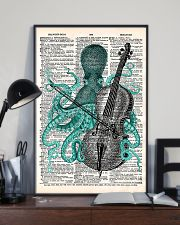Octopus playing cello 11x17 Poster lifestyle-poster-2
