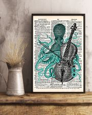 Octopus playing cello 11x17 Poster lifestyle-poster-3