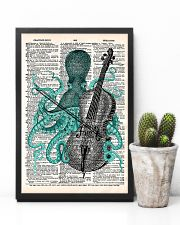 Octopus playing cello 11x17 Poster lifestyle-poster-8