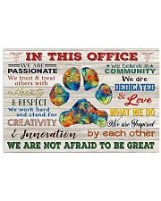 Veterinarian We Are Not Afraid To Be Great 17x11 Poster front