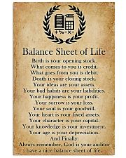 Accountant Balance Sheet Of Life 11x17 Poster front
