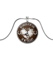 Horse Girl - Always in my heart Metallic Circle Necklace front