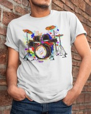Drummer Colorful Drum Set Classic T-Shirt apparel-classic-tshirt-lifestyle-26
