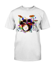 Drummer Colorful Drum Set Classic T-Shirt front
