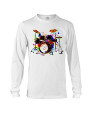 Drummer Colorful Drum Set Long Sleeve Tee thumbnail