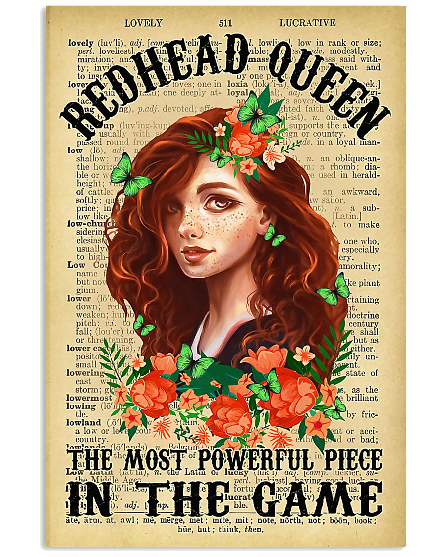 Redhead Girl - The Most Powerful Piece In The Game 11x17 Poster