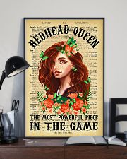 Redhead Girl - The Most Powerful Piece In The Game 11x17 Poster lifestyle-poster-2