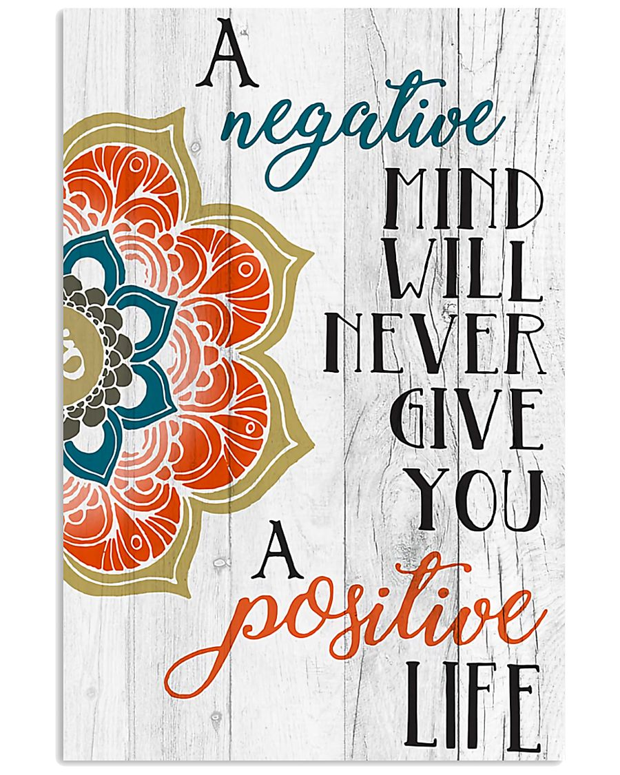Yoga Negative mind never give you positive life 11x17 Poster