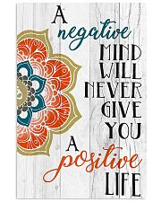 Yoga Negative mind never give you positive life 11x17 Poster front