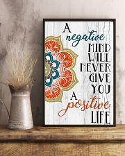 Yoga Negative mind never give you positive life 11x17 Poster lifestyle-poster-3