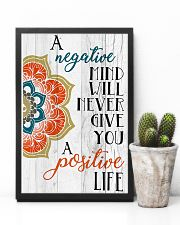Yoga Negative mind never give you positive life 11x17 Poster lifestyle-poster-8