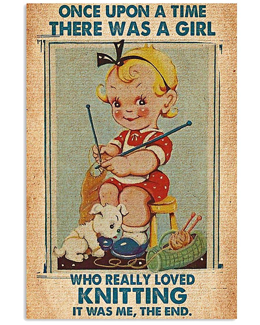 Crochet Knitting A Girl Who Really Loved Knitting 11x17 Poster