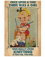 Crochet Knitting A Girl Who Really Loved Knitting 11x17 Poster front