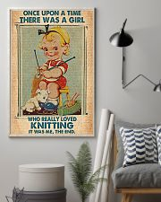Crochet Knitting A Girl Who Really Loved Knitting 11x17 Poster lifestyle-poster-1