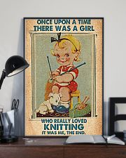 Crochet Knitting A Girl Who Really Loved Knitting 11x17 Poster lifestyle-poster-2