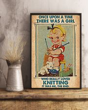 Crochet Knitting A Girl Who Really Loved Knitting 11x17 Poster lifestyle-poster-3