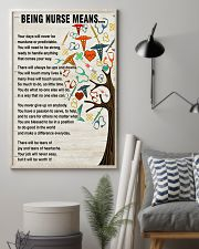 Nurse Being A Nurse Means 11x17 Poster lifestyle-poster-1