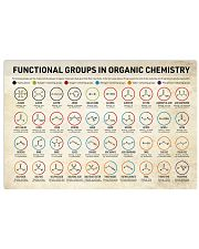 Chemistry Functional Groups 17x11 Poster front