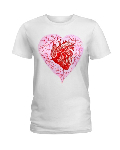 Anatomical Heart Valentine Day Cardiologist