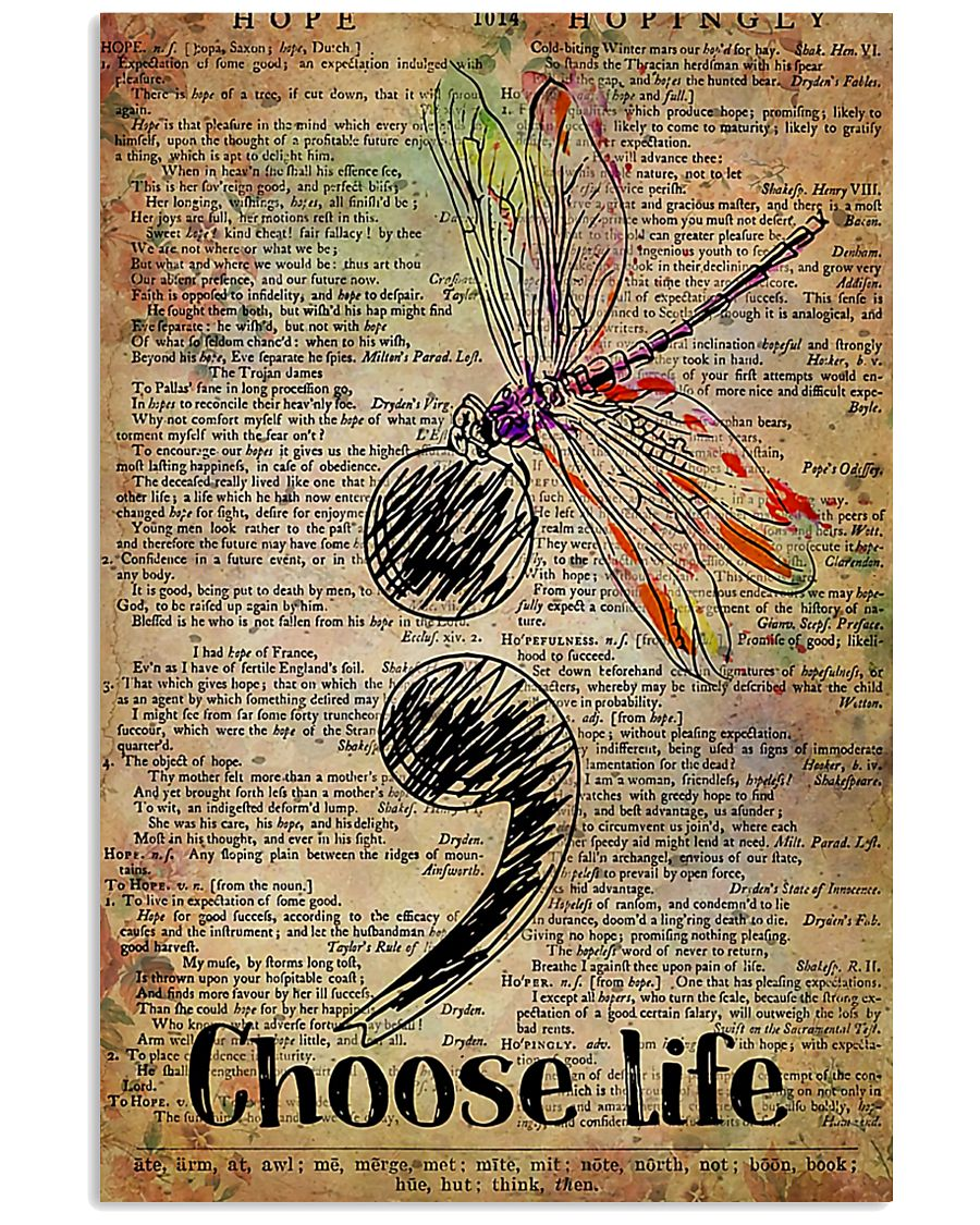 Choose Life Suicide Prevention 11x17 Poster