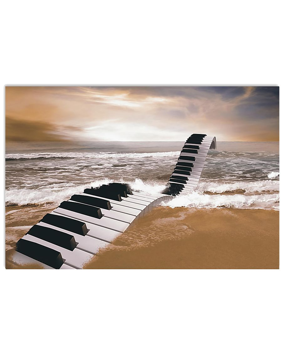 Pianist Piano on the Beach Poster 17x11 Poster
