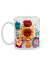 Crochet and Knitting Flowers Mug back