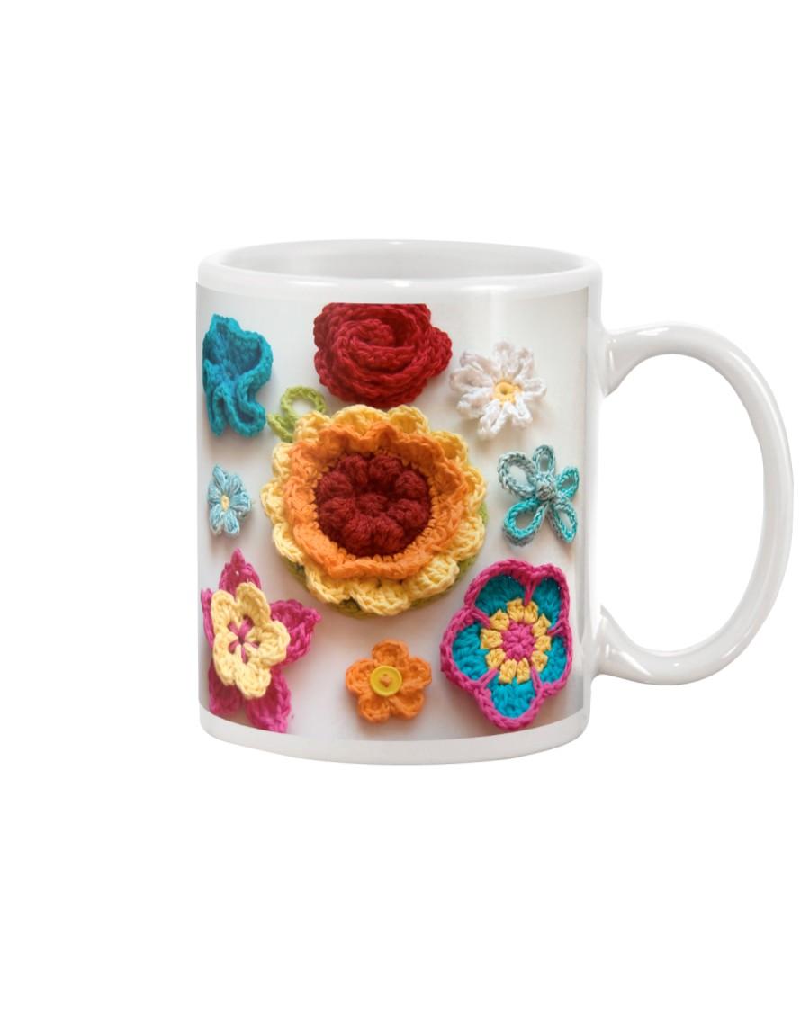 Crochet and Knitting Flowers Mug