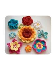 Crochet and Knitting Flowers Mousepad thumbnail