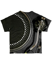 DJ Turntable All-over T-Shirt back