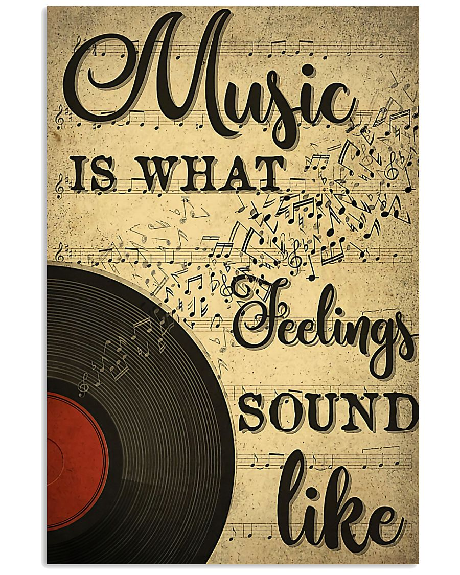 DJ Music is what feelings sound like 11x17 Poster