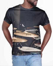 Drummer Art Drums All-over T-Shirt aos-all-over-T-shirt-lifestyle-front-04