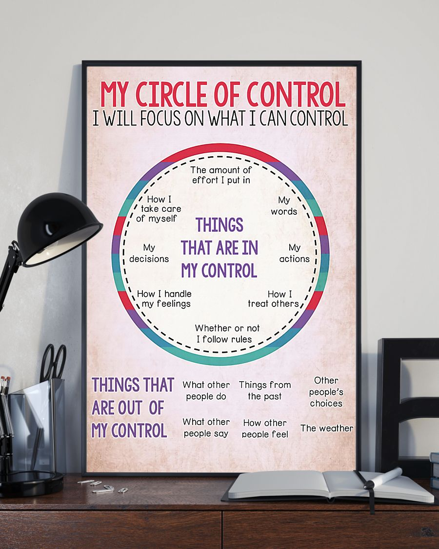 My circle of control I will focus on what I can control poster