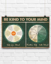 Social Worker Be Kind To Your Mind 17x11 Poster aos-poster-landscape-17x11-lifestyle-17