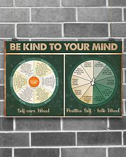 Social Worker Be Kind To Your Mind 17x11 Poster poster-landscape-17x11-lifestyle-18