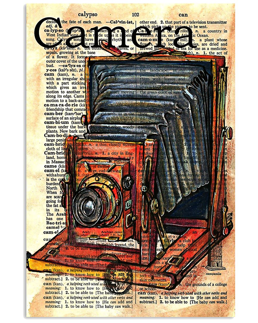 Photographer Drawing Camera 11x17 Poster