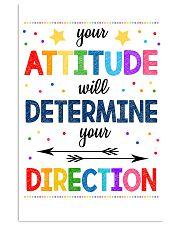 Teacher Attitude Determines Direction 11x17 Poster front